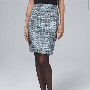 NWT White House black market tweed pencil skirt 4
